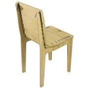 stitched chair natural with lead string